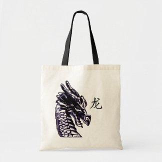 龙 (dragón) bolsas lienzo