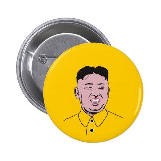 김정은 de la Jong-O.N.U el   de Kim Pin Redondo De 2 Pulgadas