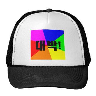 대박 Daebak Awesome Korean cap Trucker Hat