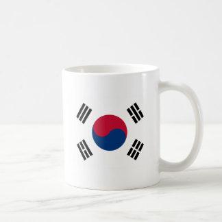 대한민국 de la Corea del Sur de la bandera Taza Básica Blanca