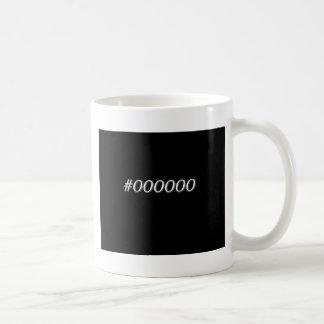 #000000 Black Coffee Mug