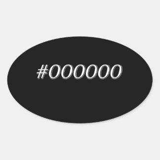 #000000 Black Oval Sticker