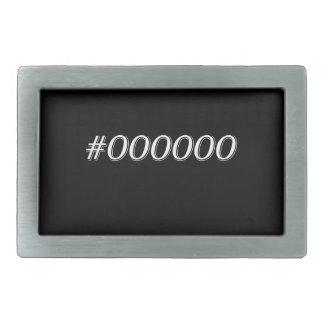 #000000 Black Rectangular Belt Buckle