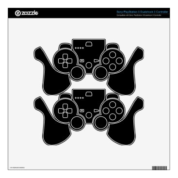 Professional Business #000000 Hex Code Web Color Dark Black Business Decal For PS3 Controller