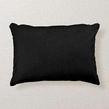 Professional Business #000000 Hex Code Web Color Dark Black Business Decorative Pillow