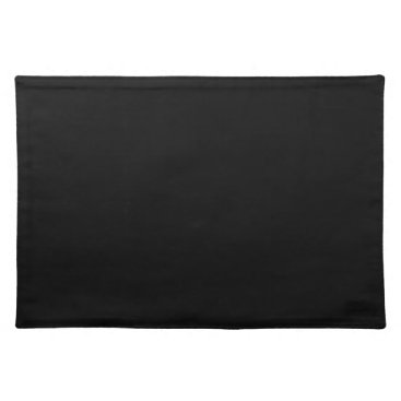 Professional Business #000000 Hex Code Web Color Dark Black Business Placemat