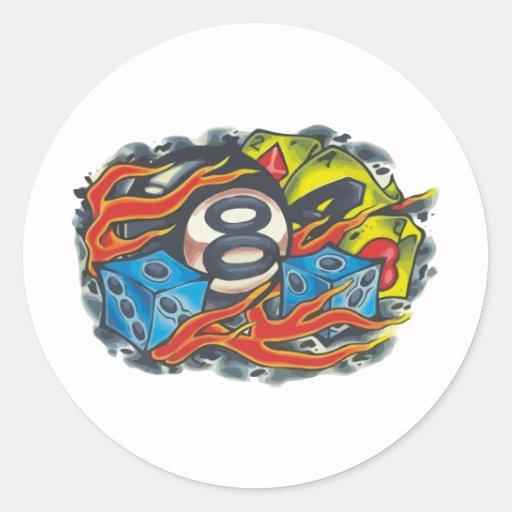 00001 Bola 8 Llamas Classic Round Sticker