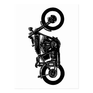 00011 Old Bike Postcard