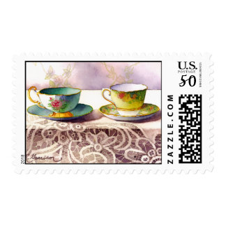 0001 Antique Teacups Postage