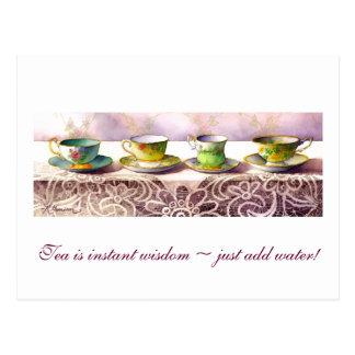 0001 Row of Teacups Astrid Alauda Postcard