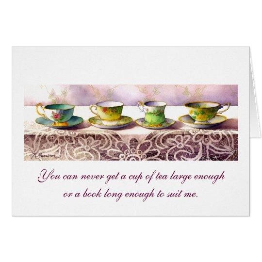 0001 Row of Teacups C.S. Lewis Greeting Card