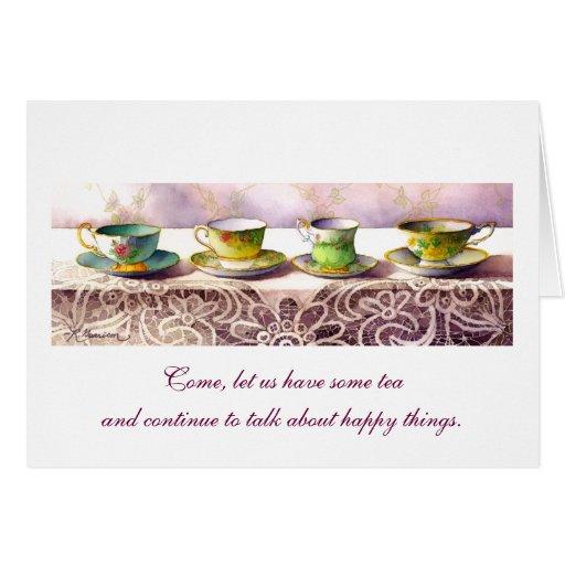 0001 Row of Teacups Chaim Potok Greeting Card