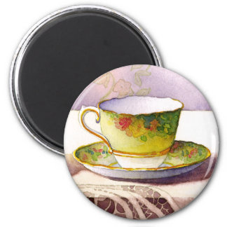 0001 Teacup on Lace Magnet