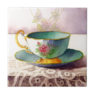 0001 Teacup on Lace Tile