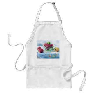 0002 Apples in Green Glass Bowl Apron