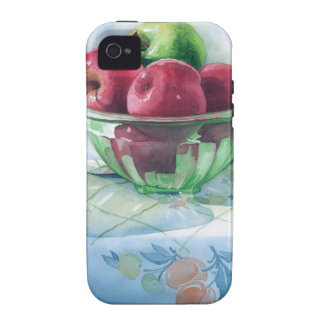 0002 Apples in Green Glass Bowl Case For The iPhone 4