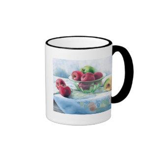 0002 Apples in Green Glass Bowl Mug