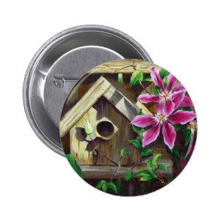 0003 Birdhouse & Clematis Button