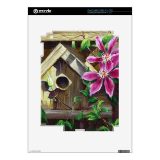 0003 Birdhouse & Clematis Decal For iPad 2