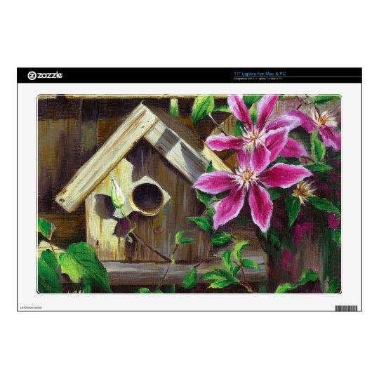 0003 Birdhouse & Clematis Decals For Laptops