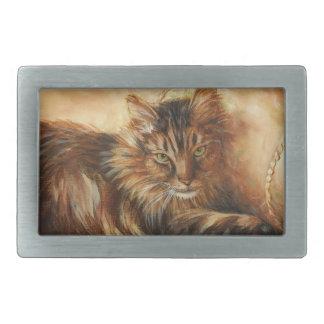 0005 Cat on Pillow Belt Buckle