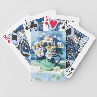 0006 Daisies in Green Teapot Playing Cards