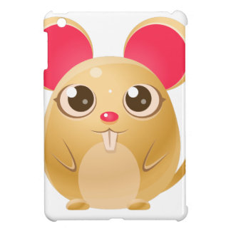 00078Mouse Baby Animal In Girly Sweet Style iPad Mini Cover