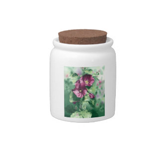 0007 Dorothy's Hollyhocks Cannister Candy Dishes
