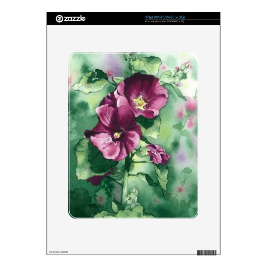 0007 Dorothy's Hollyhocks Decals For The iPad