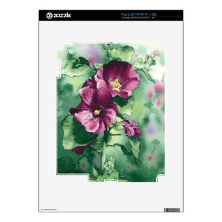 0007 Dorothy's Hollyhocks iPad 2 Decals
