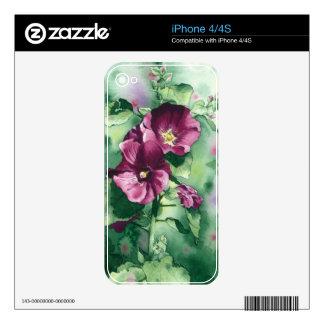 0007 Dorothy's Hollyhocks iPhone 4S Skins