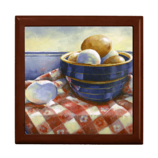 0008 Eggs in Blue Bowl Gift Box