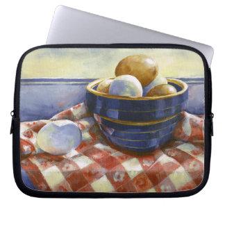 0008 Eggs in Blue Bowl Laptop Sleeve