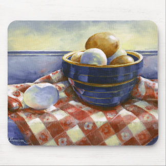 0008 Eggs in Blue Bowl Mousepad