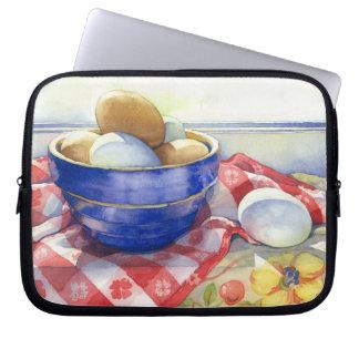 0009 Eggs in Blue Bowl Laptop Sleeve
