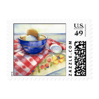 0009 Eggs in Blue Bowl Postage