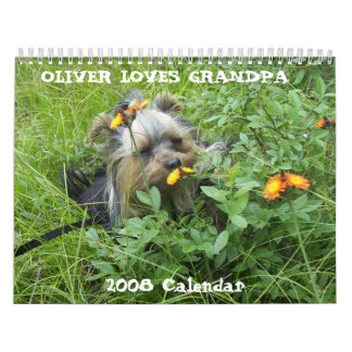 000_0011, OLIVER LOVES GRANDPA, 2008 Calendar