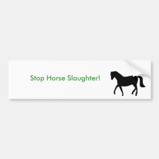 ¡000, matanza del caballo de la parada! pegatina de parachoque