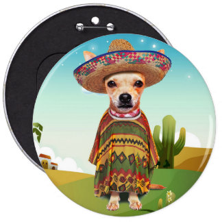 000-mexican pinback button