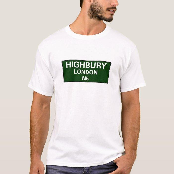 000 STREET SIGNS - LONDON - HIGHBURY N5 T-Shirt