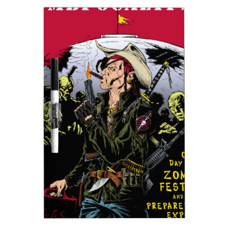000- The 2012 Zombie Festerval full color poster 1 Dry Erase Board