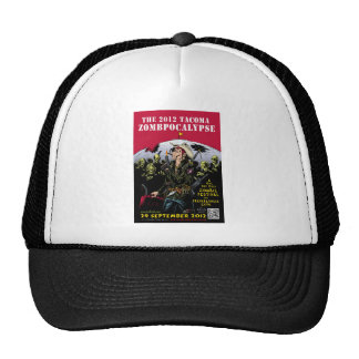 000- The 2012 Zombie Festerval full color poster 1 Mesh Hats