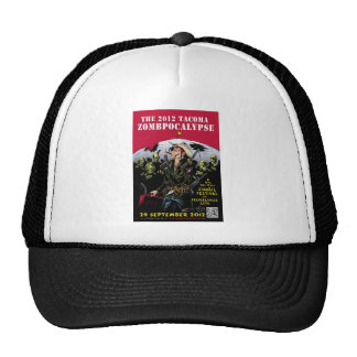 000- The 2012 Zombie Festerval full color poster 1 Trucker Hats