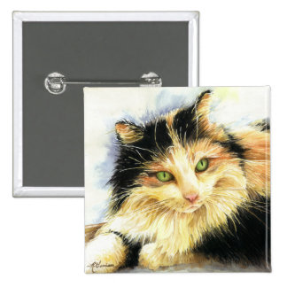 0010 Calico Cat Pinback Buttons