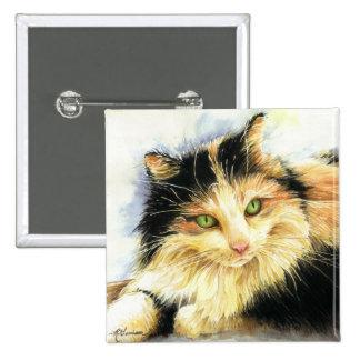 0010 Calico Cat Pinback Button