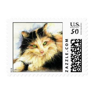 0010 Calico Cat Postage