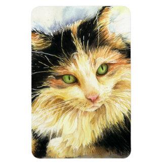 0010 Calico Cat Rectangular Photo Magnet