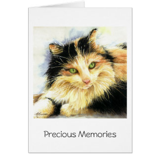 0010 Calico Cat Sympathy Greeting Card