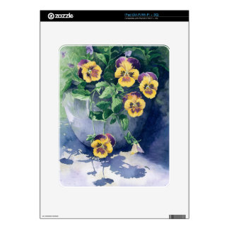 0011 Pansies in Planter Skin For The iPad