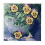 "0011 Pansies in Planter Tile<br><div class=""desc"">From an original watercolor painting by Ruth Garrison.</div>"